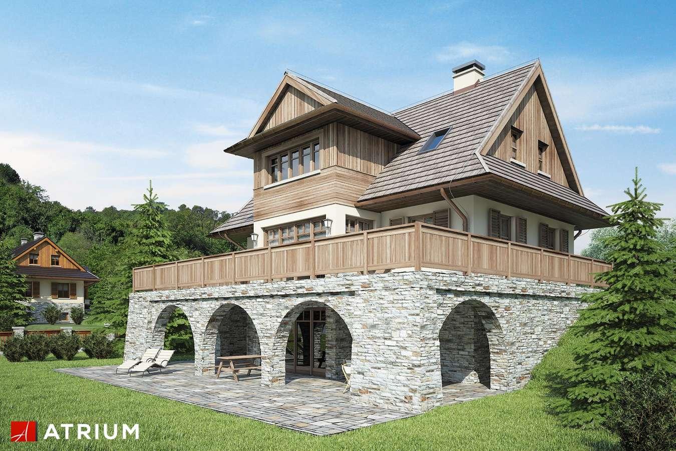 Projekty domów - Projekt domu z poddaszem SOBóTKA - wizualizacja 2