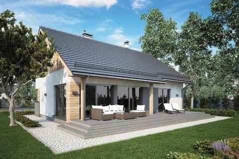 Projekt domu parterowego ROY V SZ - wizualizacja 2
