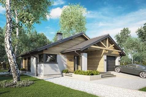 Projekt domu parterowego PELIKAN III SZ