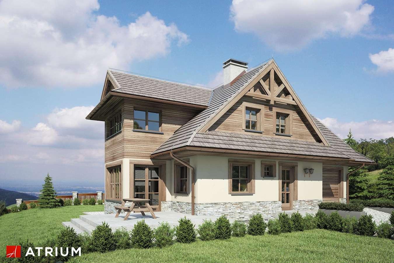 Projekty domów - Projekt domu z poddaszem CYRHLA - wizualizacja 1
