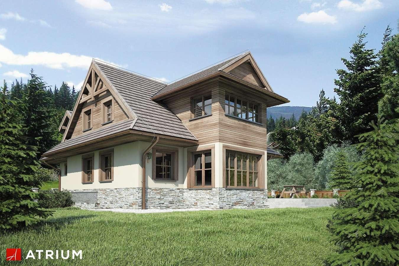 Projekty domów - Projekt domu z poddaszem CYRHLA - wizualizacja 2