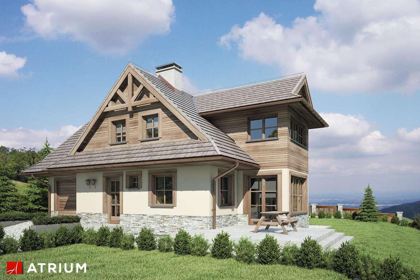Projekty domów - Projekt domu z poddaszem CYRHLA - wizualizacja 1 - wersja lustrzana