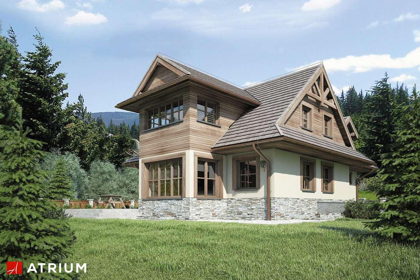 Projekty domów - Projekt domu z poddaszem CYRHLA - wizualizacja 2 - wersja lustrzana
