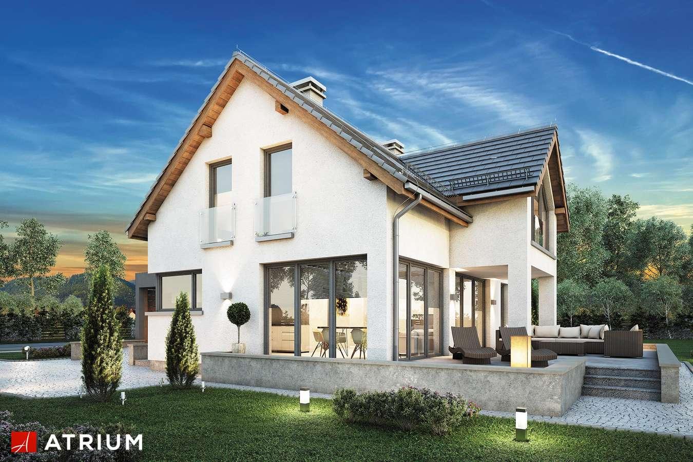 Projekty domów - Projekt domu z poddaszem SAMBA II BIS - wizualizacja 1 - wersja lustrzana