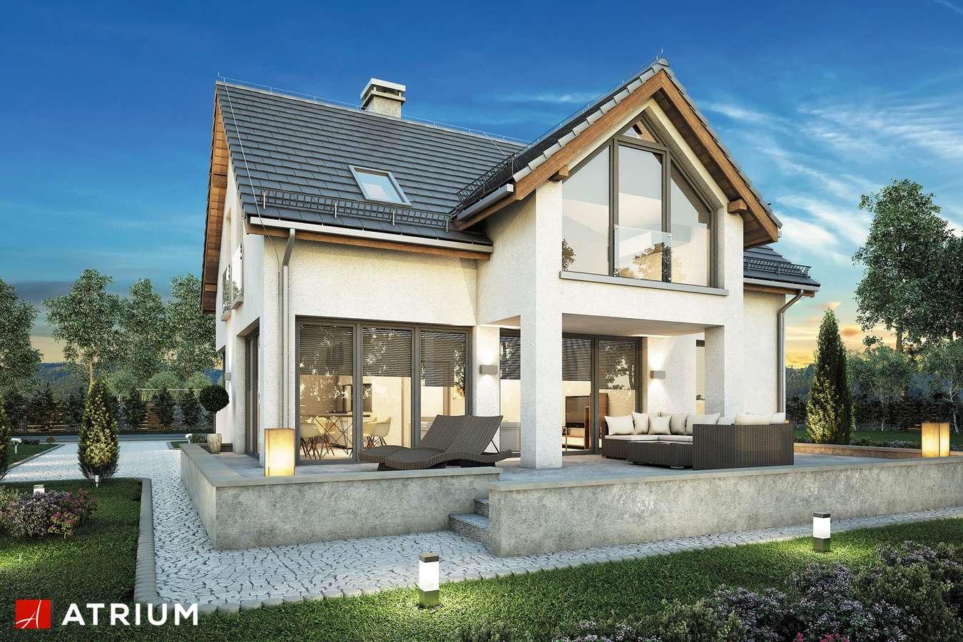 Projekty domów - Projekt domu z poddaszem SAMBA II BIS - wizualizacja 2 - wersja lustrzana