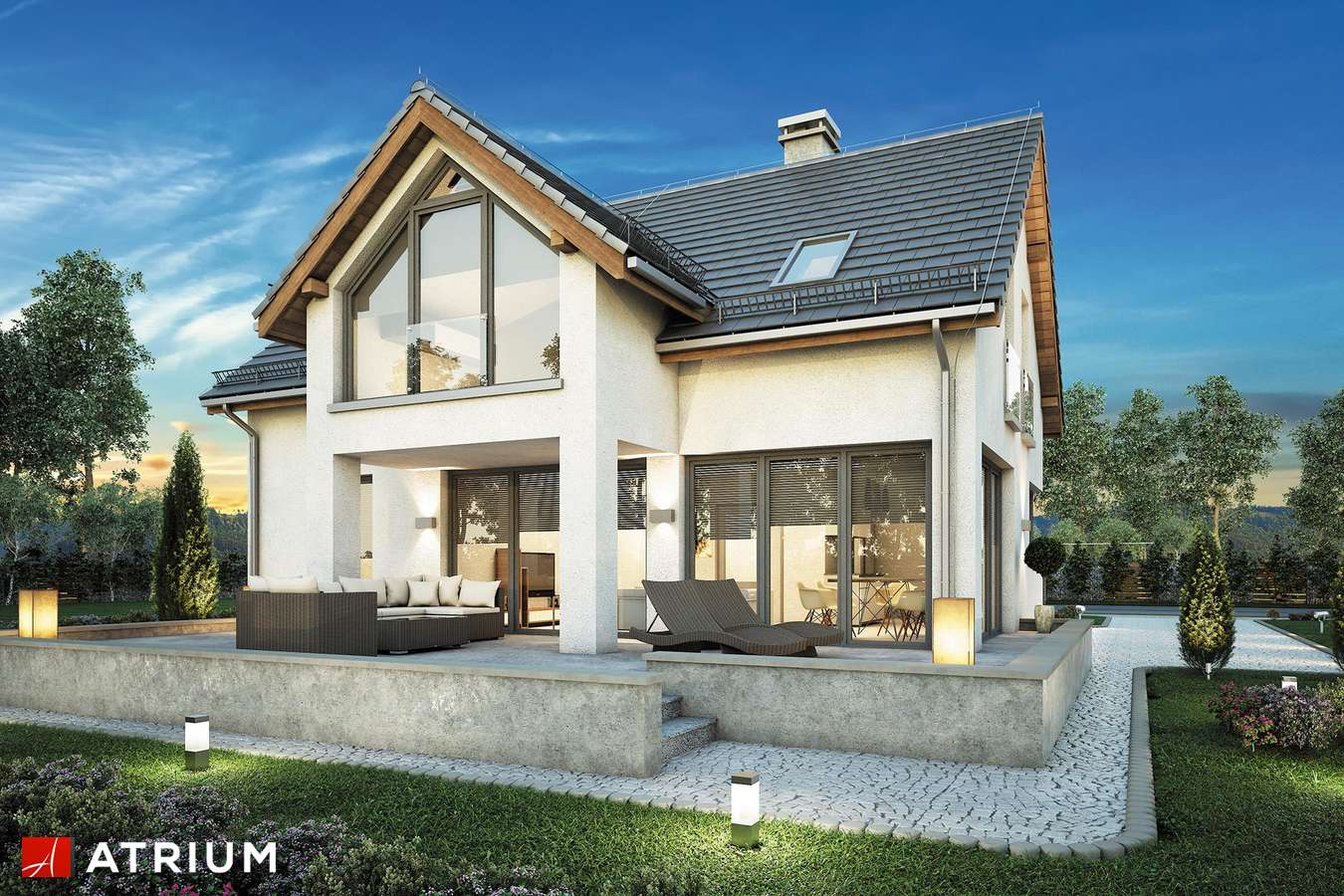 Projekty domów - Projekt domu z poddaszem SAMBA II BIS - wizualizacja 2