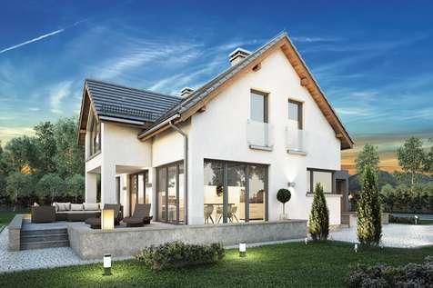 Projekt domu z poddaszem SAMBA II BIS - wizualizacja 1