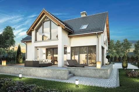 Projekt domu z poddaszem SAMBA II BIS - wizualizacja 2