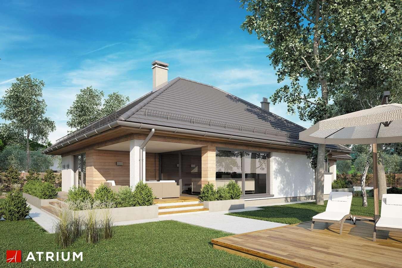 Projekty domów - Projekt domu parterowego MORGAN III - wizualizacja 2