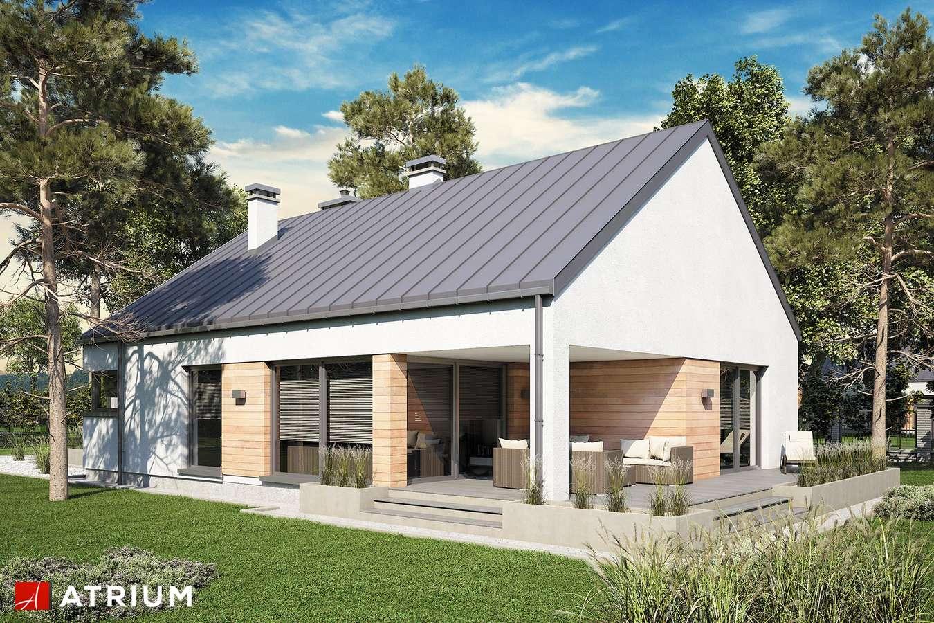 Projekty domów - Projekt domu parterowego PELIKAN SLIM VI - wizualizacja 2 - wersja lustrzana