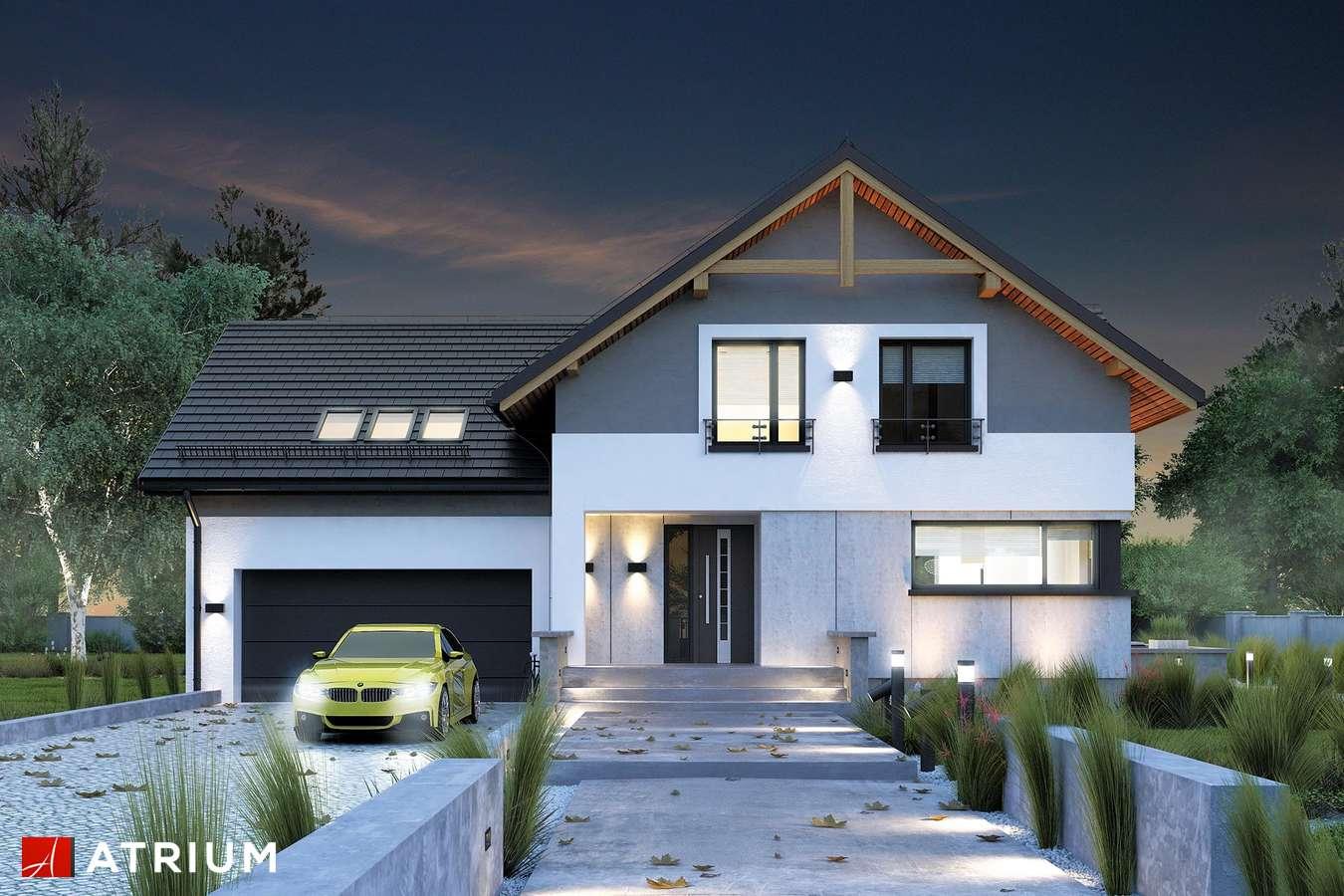 Projekty domów - Projekt domu z poddaszem JUPITER V BIS - wizualizacja 1
