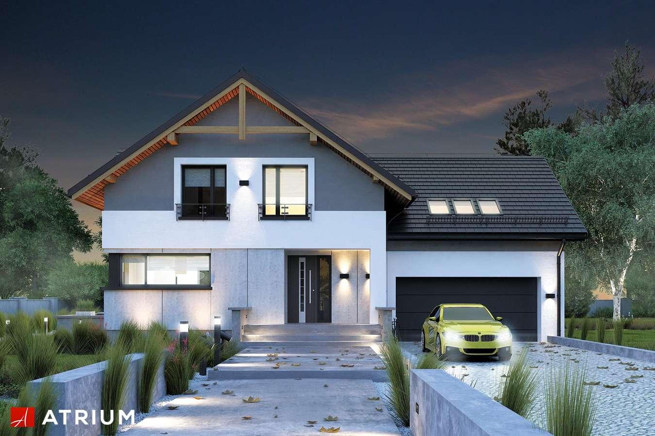 Projekty domów - Projekt domu z poddaszem JUPITER V BIS - wizualizacja 1 - wersja lustrzana