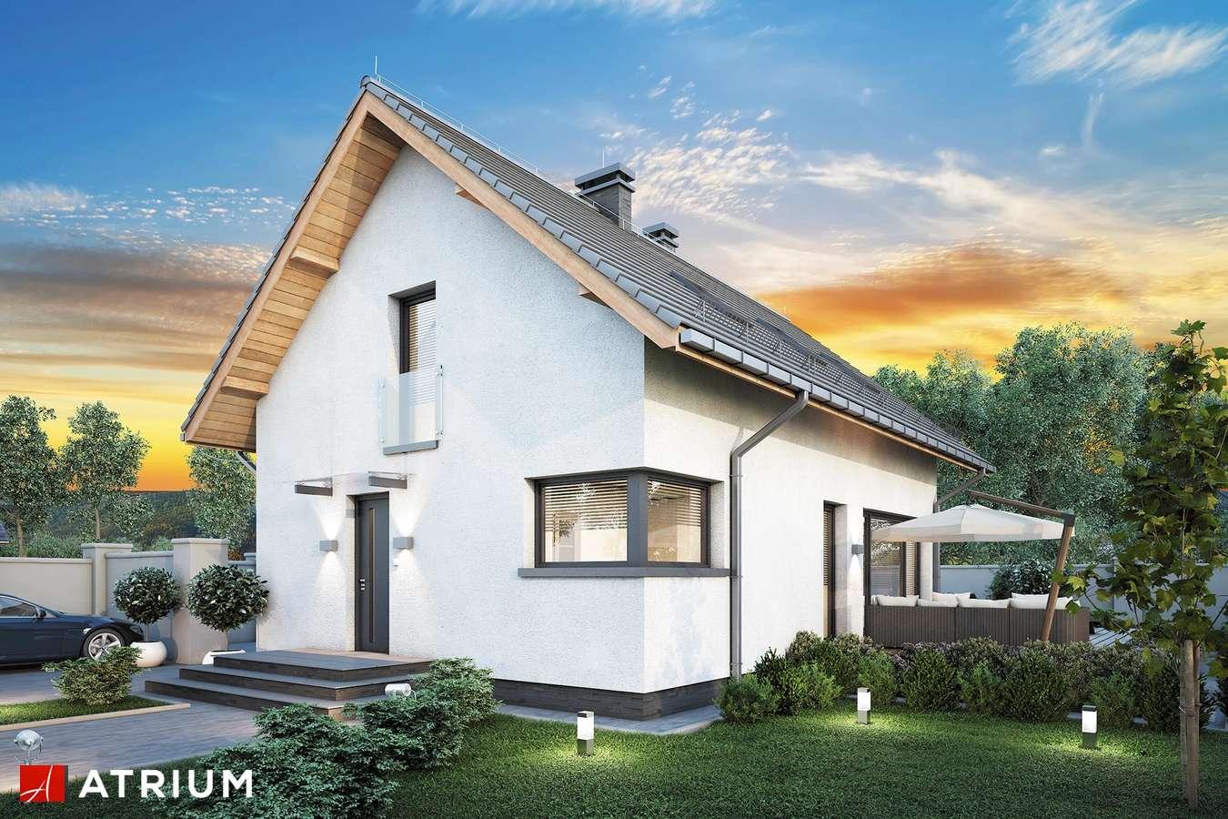 Projekty domów - Projekt domu z poddaszem FELIX IV - wizualizacja 1 - wersja lustrzana