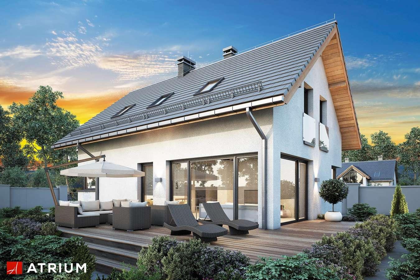 Projekty domów - Projekt domu z poddaszem FELIX IV - wizualizacja 2 - wersja lustrzana
