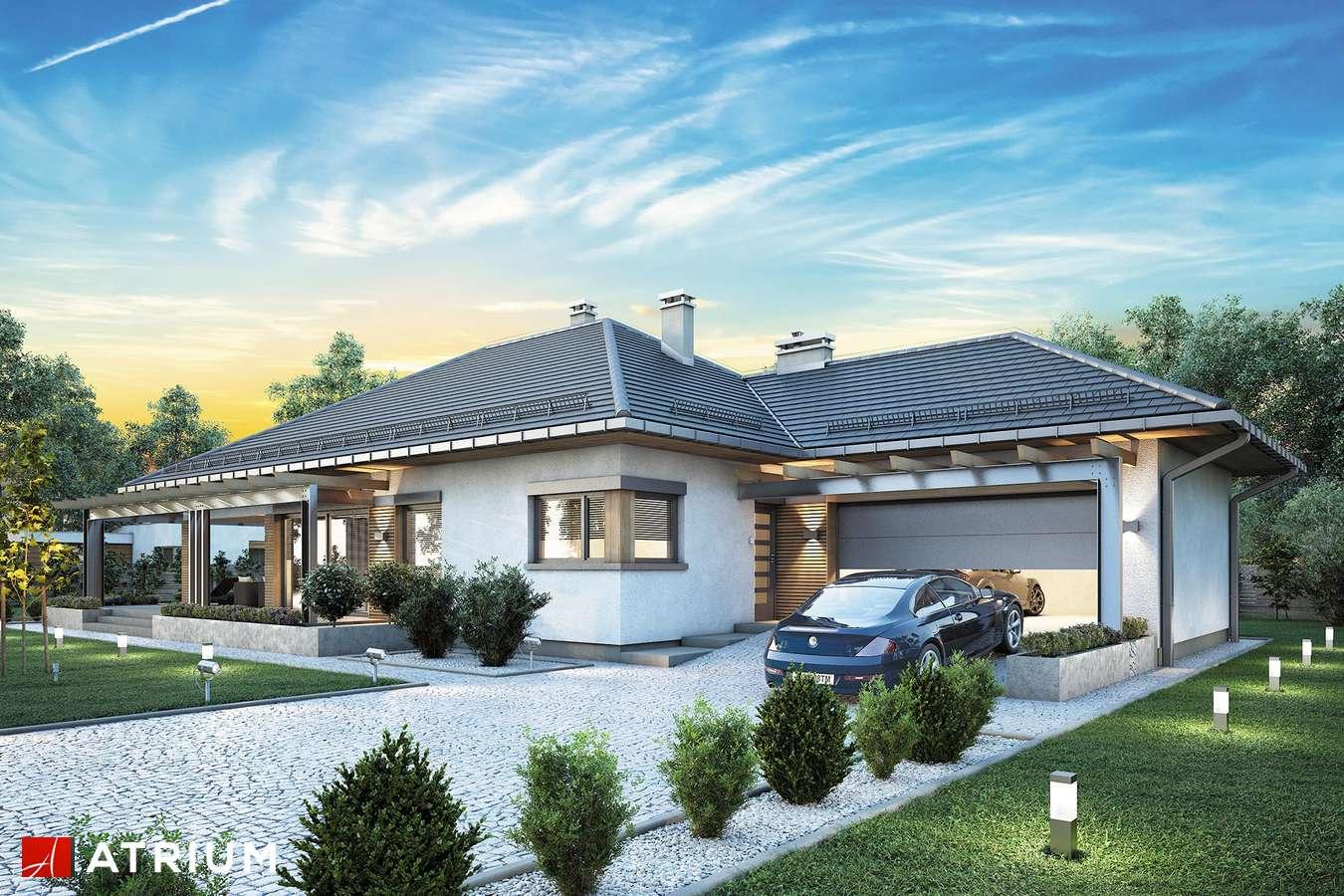 Projekty domów - Projekt domu parterowego MADERA II - wizualizacja 2