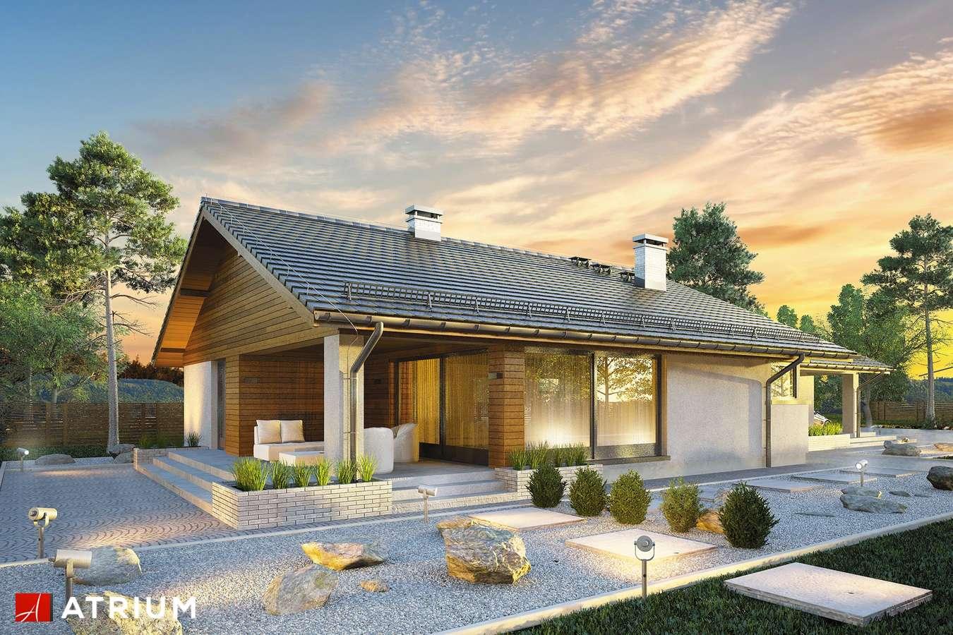 Projekty domów - Projekt domu parterowego RODOS - wizualizacja 2 - wersja lustrzana