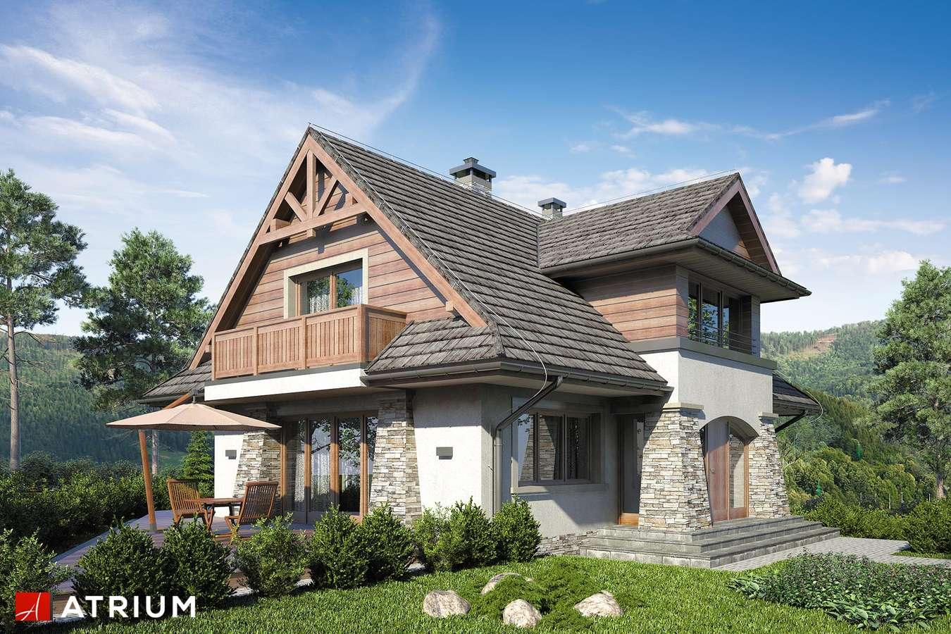 Projekty domów - Projekt domu z poddaszem JAWORZYNA - wizualizacja 1
