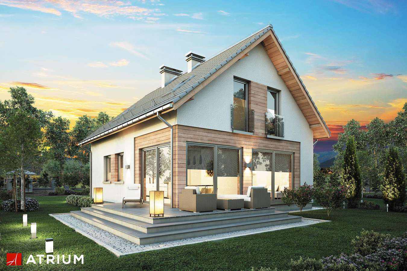 Projekty domów - Projekt domu z poddaszem BRAWO - wizualizacja 1