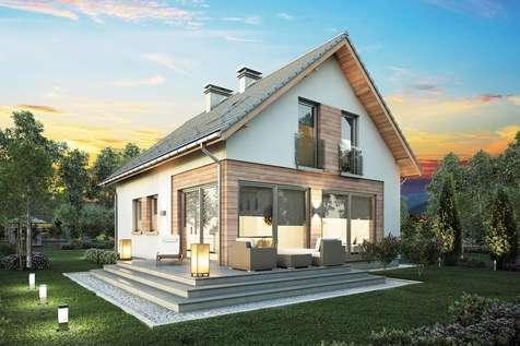 Projekt domu z poddaszem BRAWO - wizualizacja 1