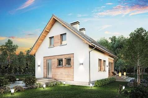 Projekt domu z poddaszem BRAWO - wizualizacja 2