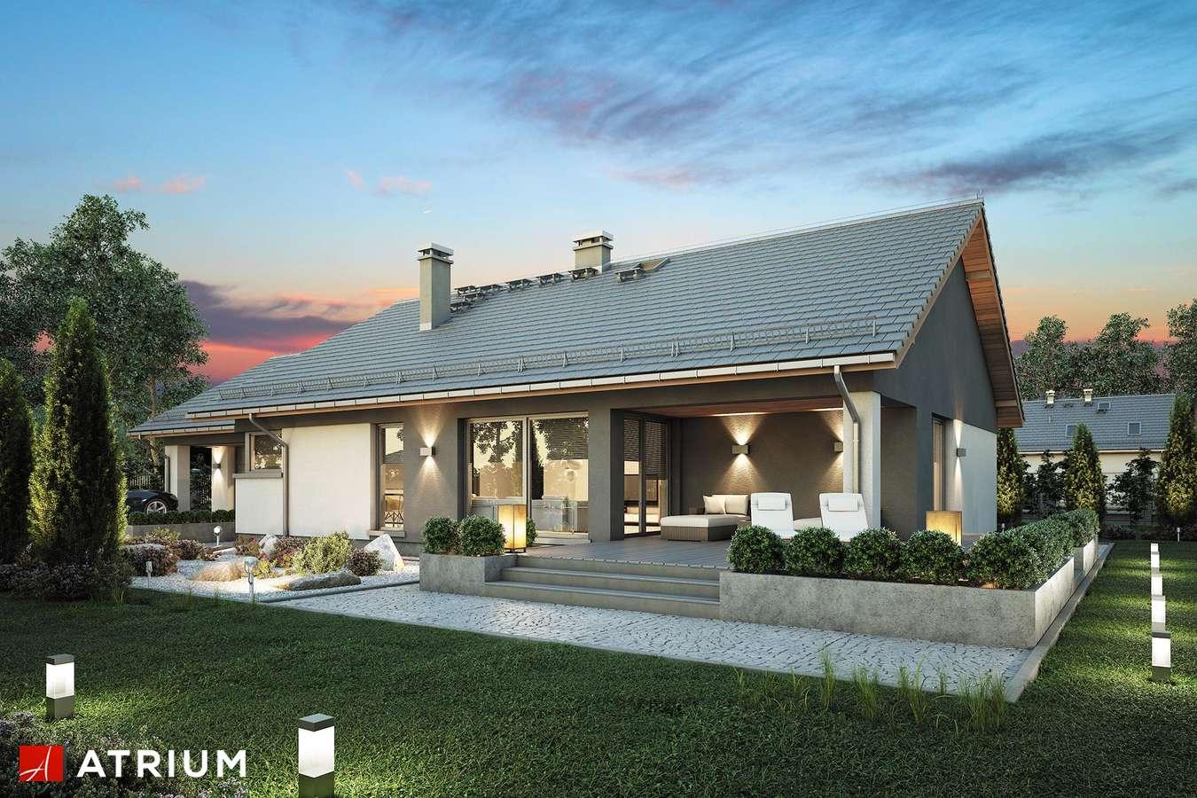 Projekty domów - Projekt domu parterowego CZAJKA - wizualizacja 2 - wersja lustrzana