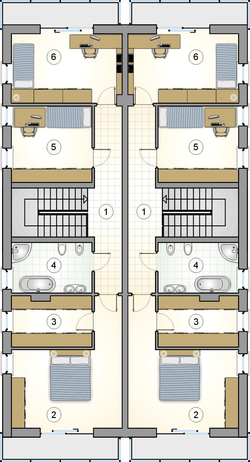 rzut piętra - projekt Gemini