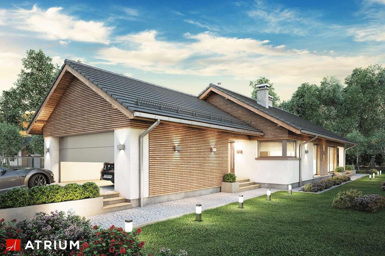 Projekty domów - Projekt domu parterowego PELIKAN SLIM VIII - wizualizacja 1 - wersja lustrzana