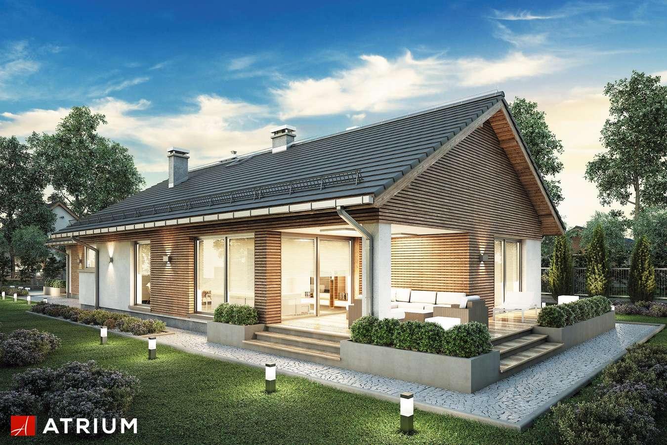 Projekty domów - Projekt domu parterowego PELIKAN SLIM VIII - wizualizacja 2 - wersja lustrzana