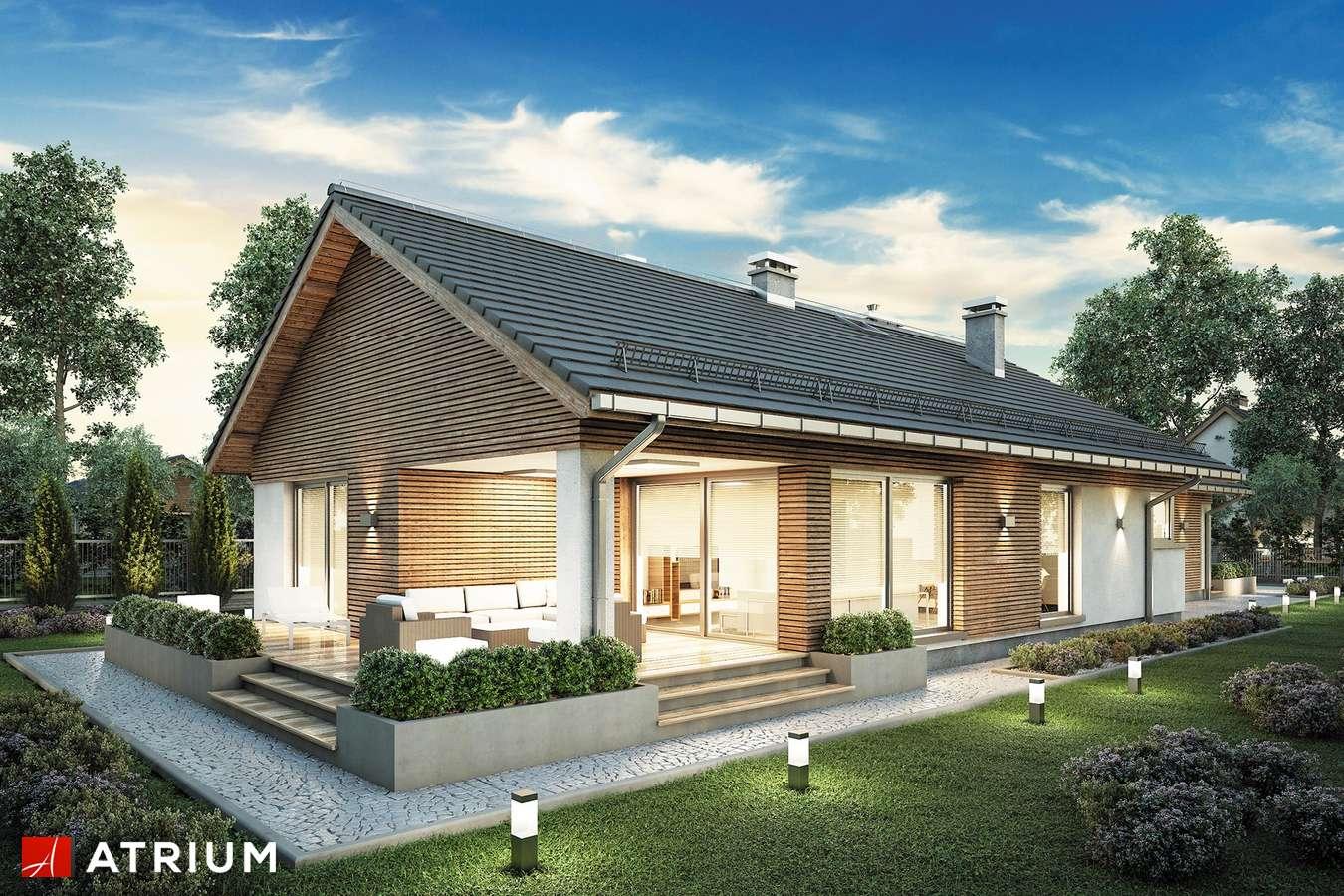 Projekty domów - Projekt domu parterowego PELIKAN SLIM VIII - wizualizacja 2