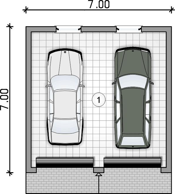 rzut garażu - Garaż Z 48