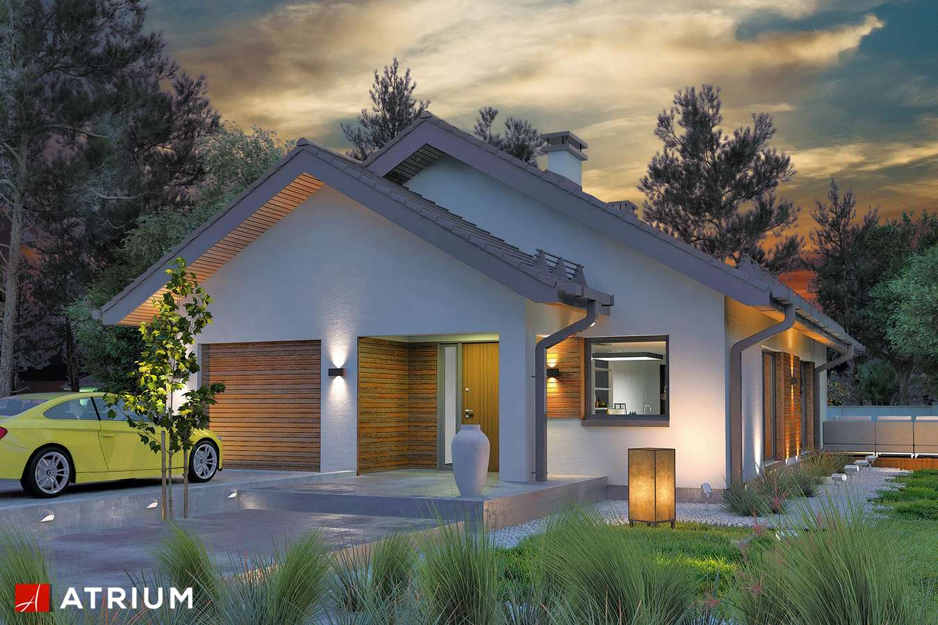 Projekty domów - Projekt domu parterowego SFINKS VIII - wizualizacja 2