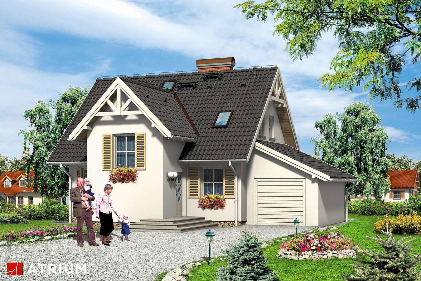 Projekty domów - Projekt domu z poddaszem NEMO - wizualizacja 1 - wersja lustrzana