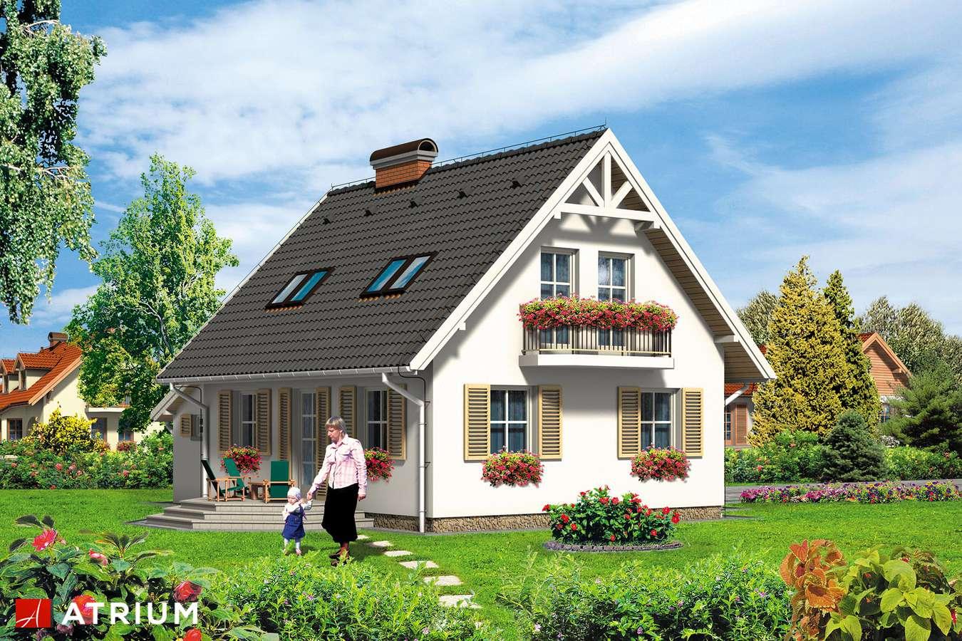 Projekty domów - Projekt domu z poddaszem NEMO - wizualizacja 2 - wersja lustrzana