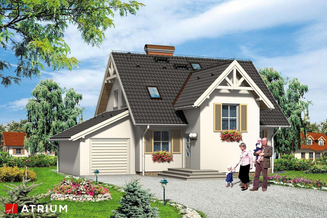 Projekty domów - Projekt domu z poddaszem NEMO - wizualizacja 1
