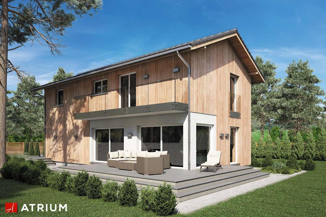 Projekty domów - Projekt domu piętrowego FORTE BIS - wizualizacja 1 - wersja lustrzana