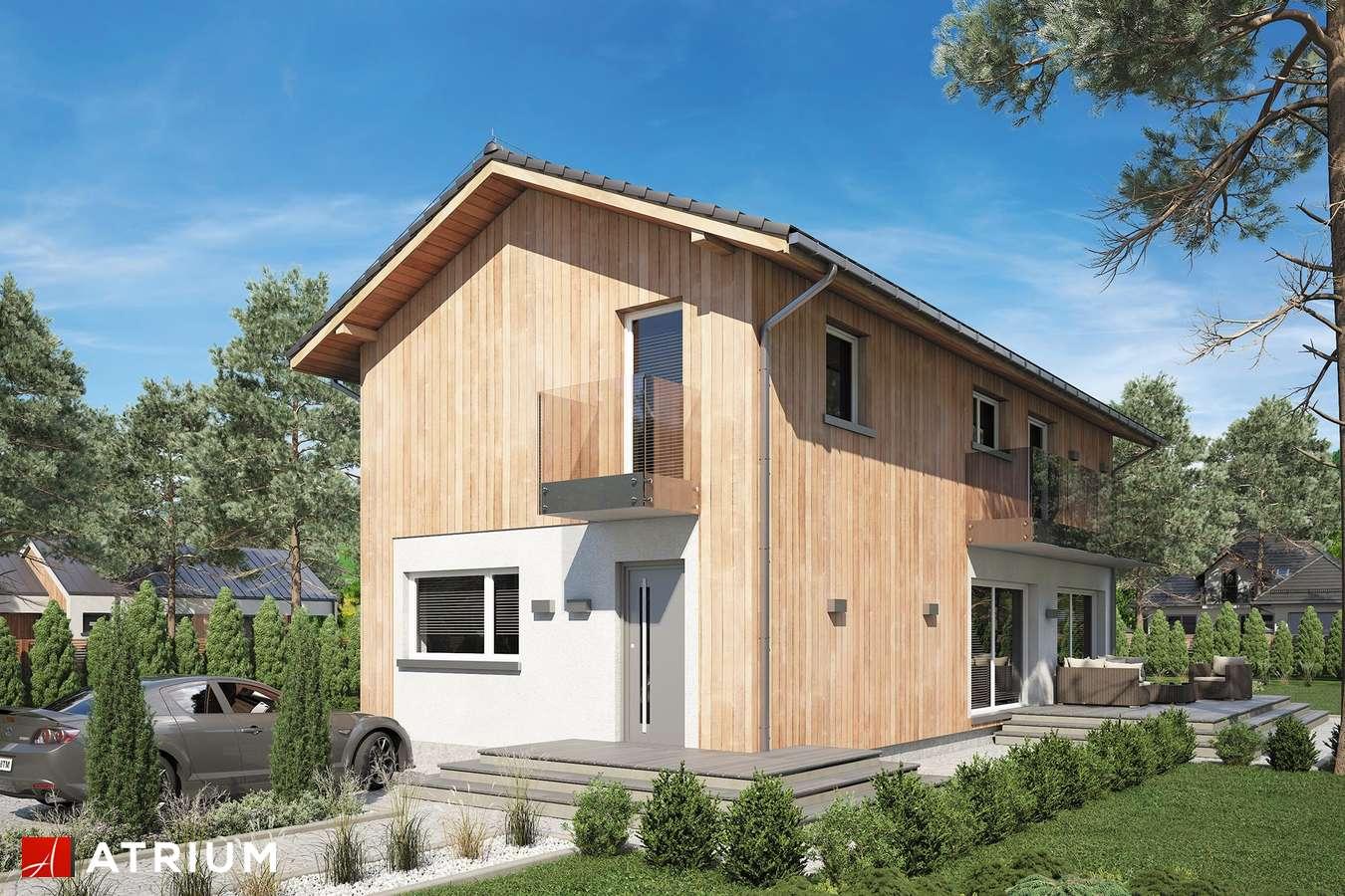 Projekty domów - Projekt domu piętrowego FORTE BIS - wizualizacja 2 - wersja lustrzana