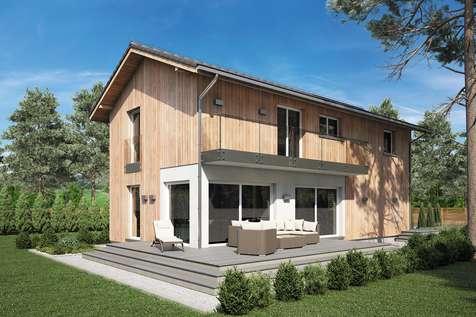 Projekt domu piętrowego FORTE BIS - wizualizacja 1