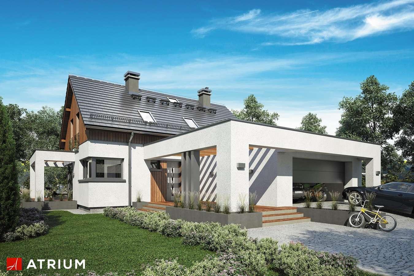 Projekty domów - Projekt domu z poddaszem SAMBA XIV - wizualizacja 1 - wersja lustrzana