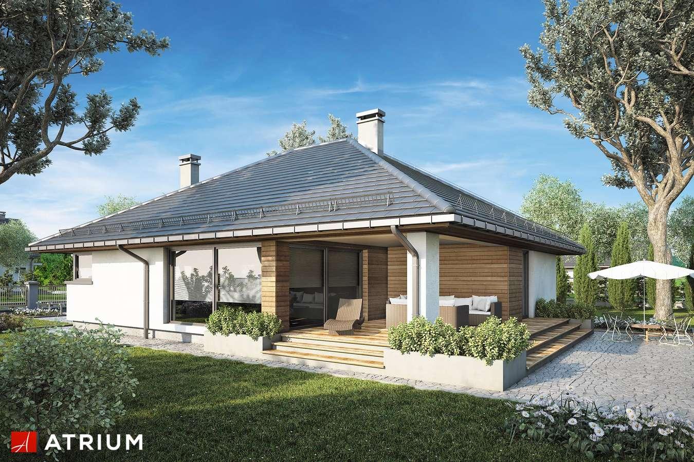 Projekty domów - Projekt domu parterowego KRASKA - wizualizacja 2 - wersja lustrzana