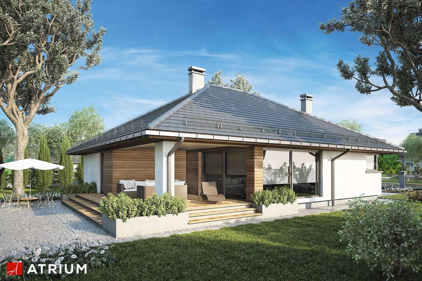 Projekty domów - Projekt domu parterowego KRASKA - wizualizacja 2