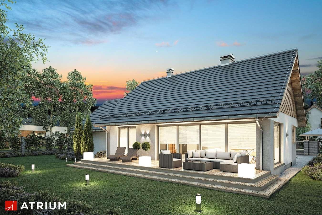 Projekty domów - Projekt domu parterowego RICARDO LIFT II - wizualizacja 2 - wersja lustrzana