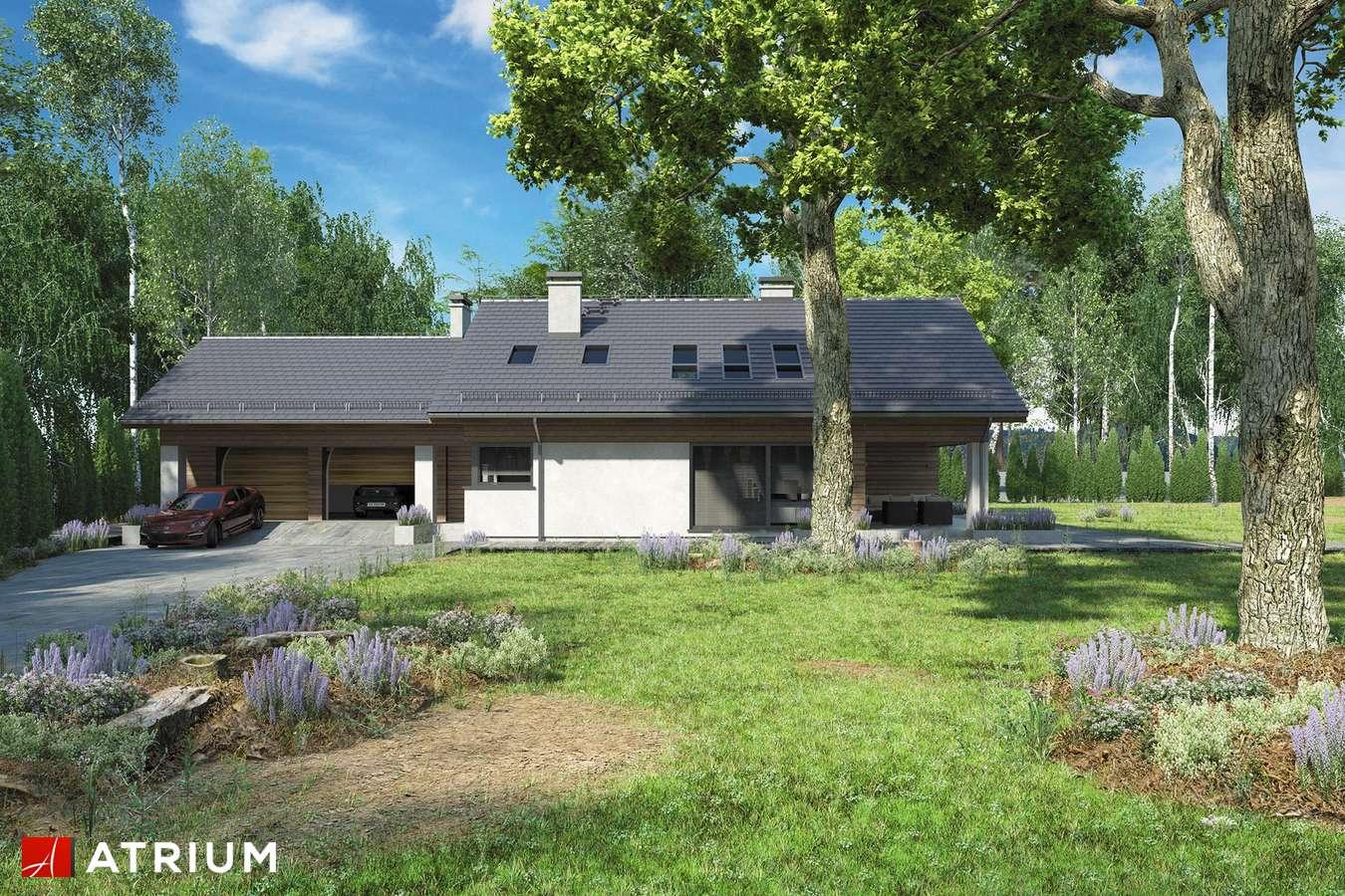 Projekty domów - Projekt domu z poddaszem KOS PLUS II - wizualizacja 1 - wersja lustrzana