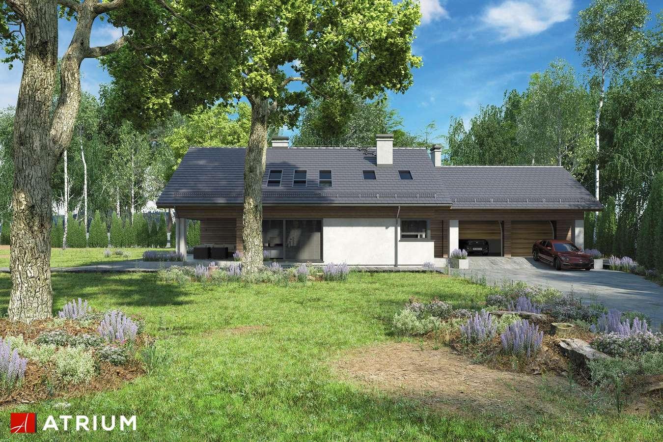 Projekty domów - Projekt domu z poddaszem KOS PLUS II - wizualizacja 1