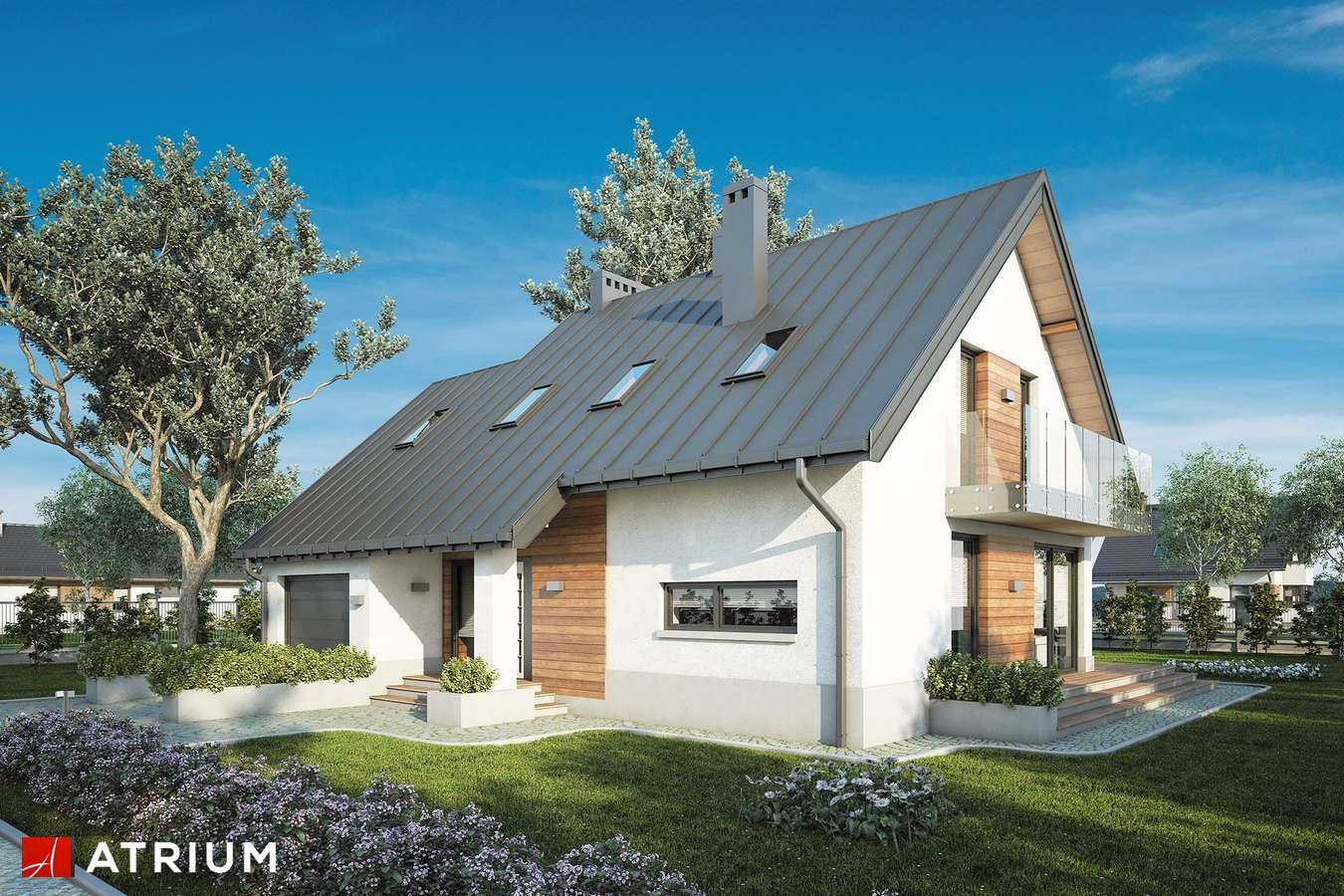 Projekty domów - Projekt domu z poddaszem ROLEKS NEW - wizualizacja 1