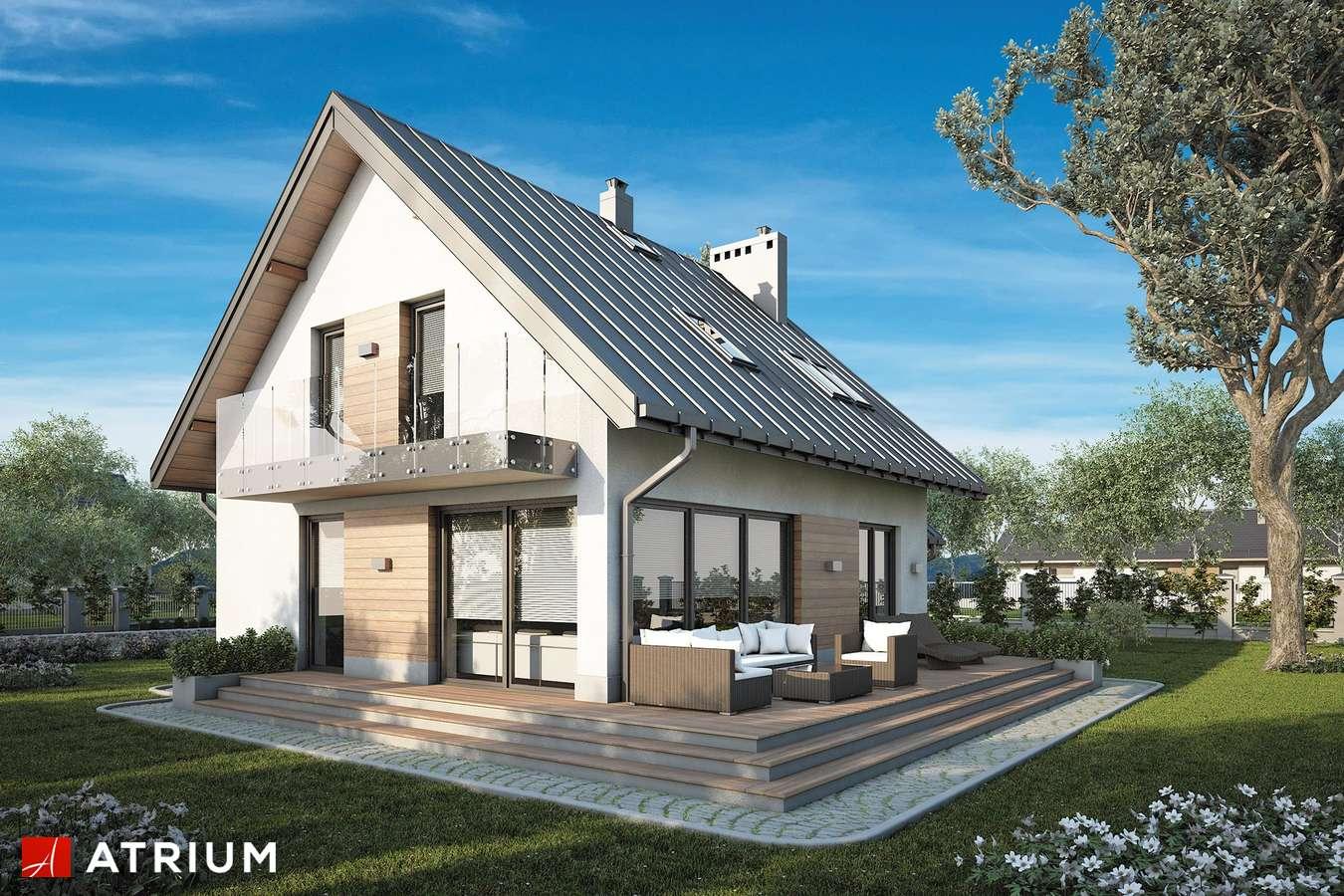 Projekty domów - Projekt domu z poddaszem ROLEKS NEW - wizualizacja 2