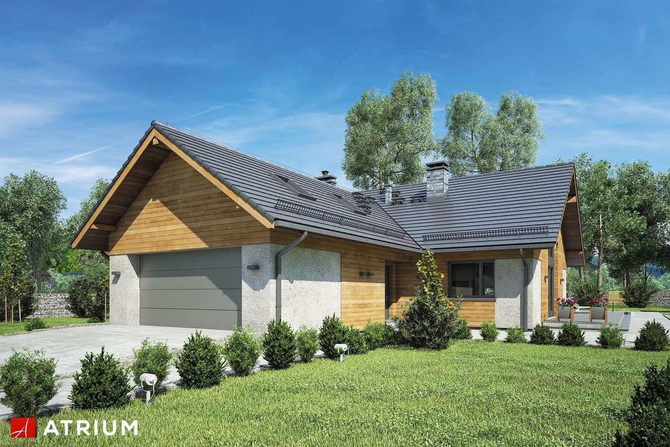 Projekty domów - Projekt domu z poddaszem OXFORD VII - wizualizacja 1 - wersja lustrzana