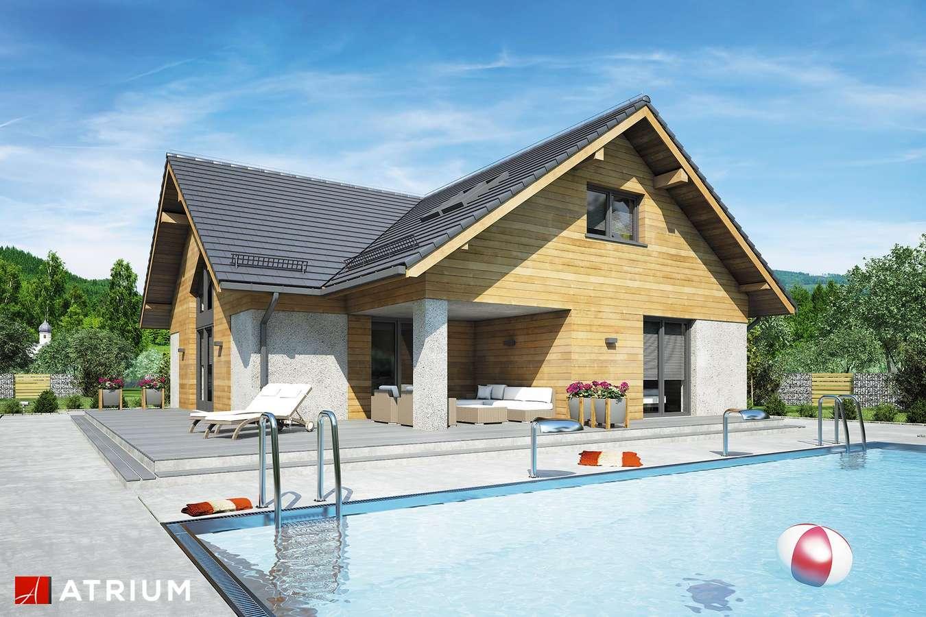 Projekty domów - Projekt domu z poddaszem OXFORD VII - wizualizacja 2 - wersja lustrzana