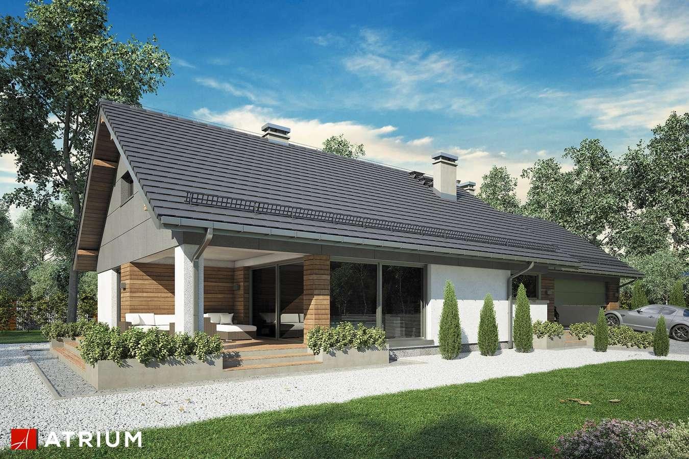 Projekty domów - Projekt domu z poddaszem KOS MINI - wizualizacja 2