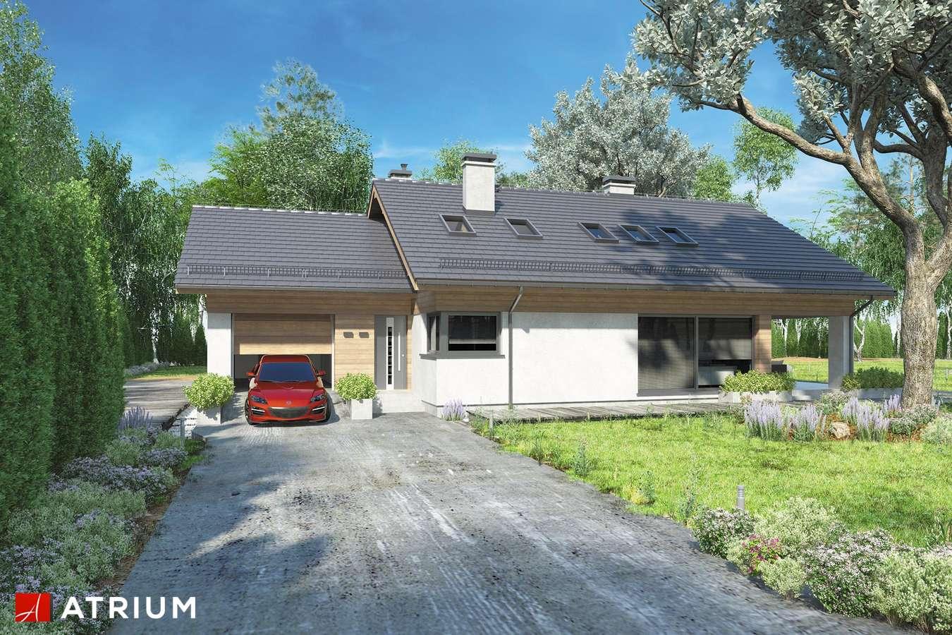 Projekty domów - Projekt domu z poddaszem KOS PLUS III - wizualizacja 2 - wersja lustrzana