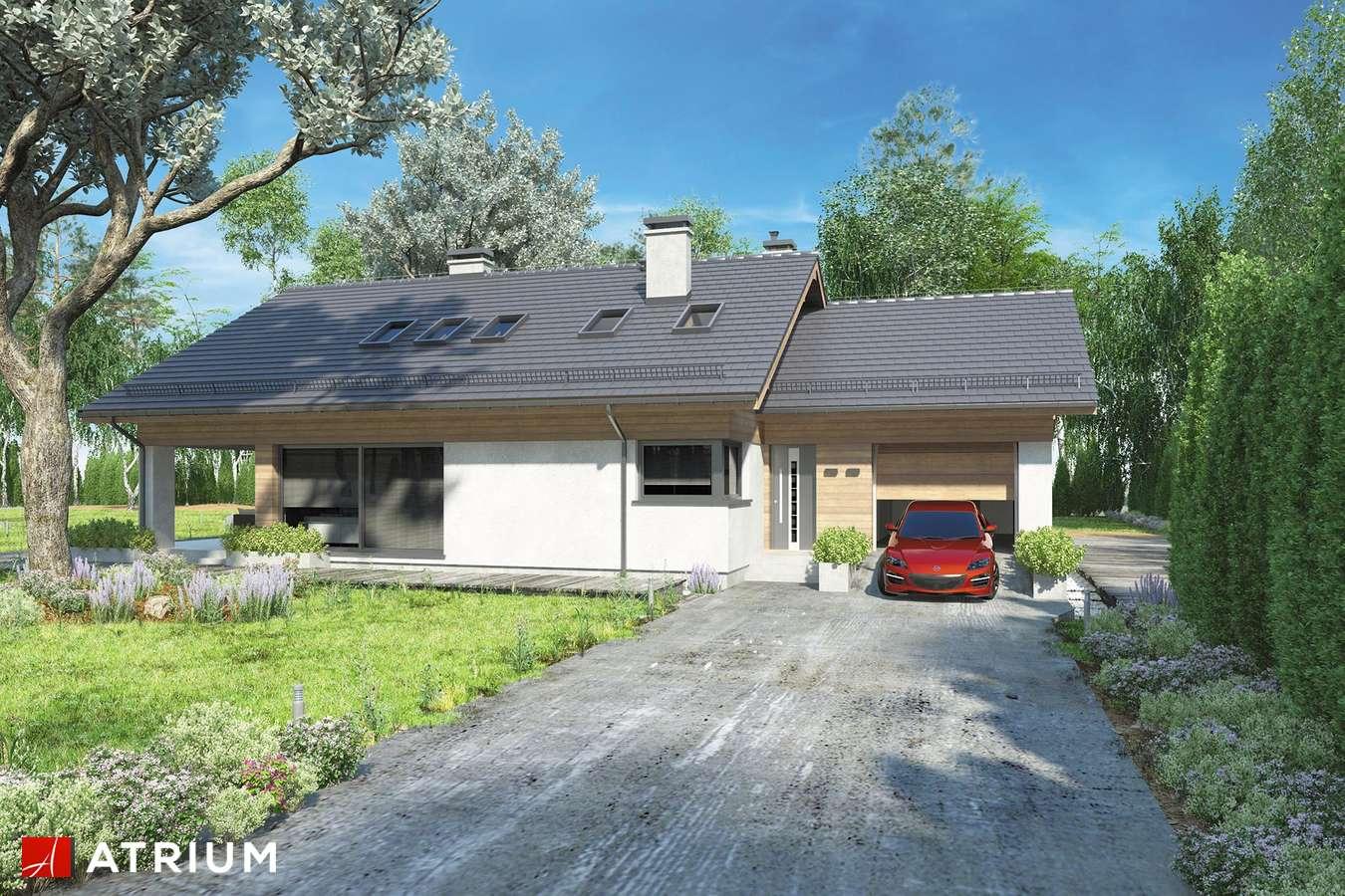 Projekty domów - Projekt domu z poddaszem KOS PLUS III - wizualizacja 2